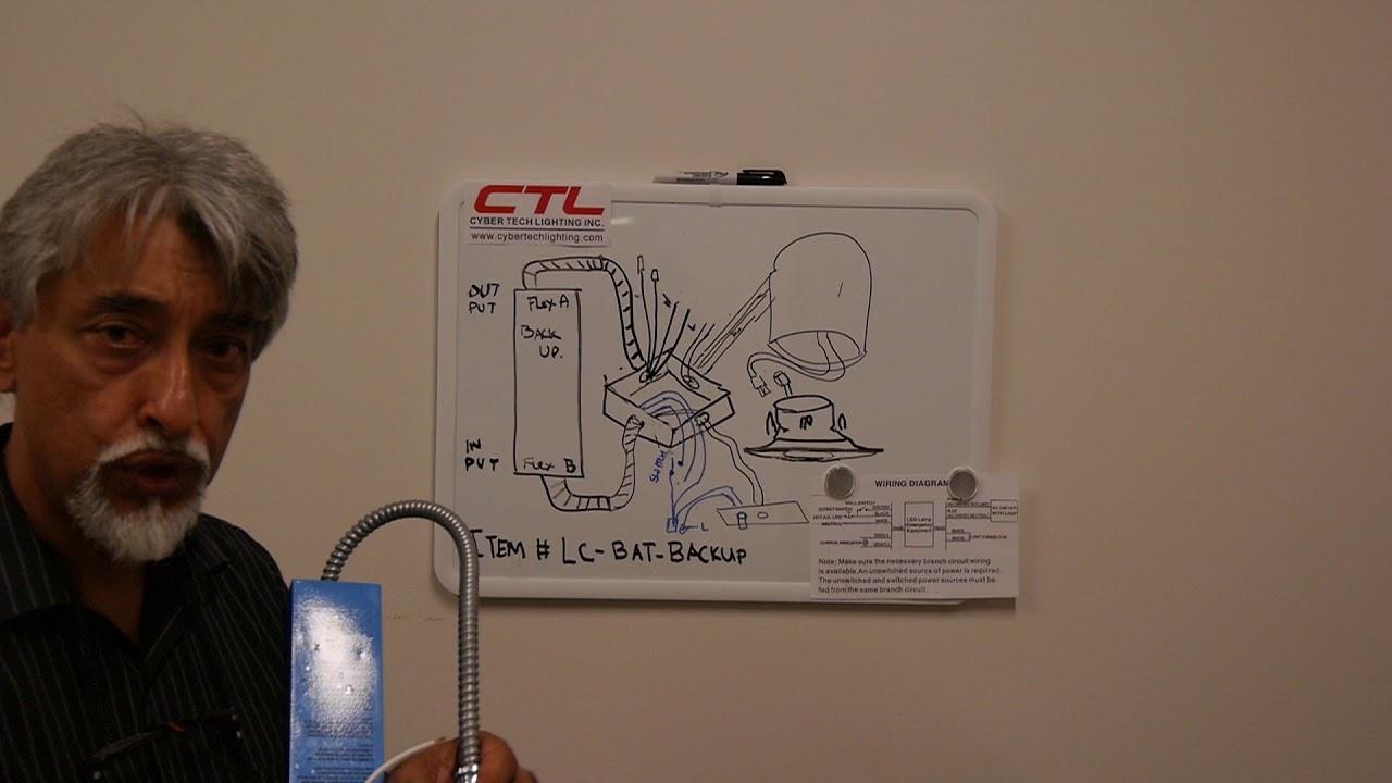 small resolution of lc bat backup led downlight battery backup install