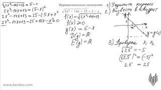 Задача C3: Иррациональные уравнения