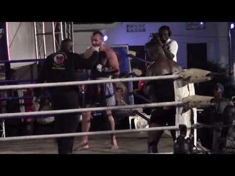 Golola Moses of Uganda Beats Hangarian Janos Lakatos badly in Kampala fight, falls twice in the ring