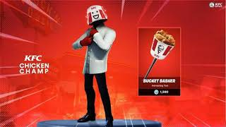 NEW SKIN KFC ON FORTNITE BATTLE ROYALE ;)