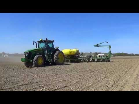Working Ground & Planting Corn near Greenville Ohio   Spring 2017