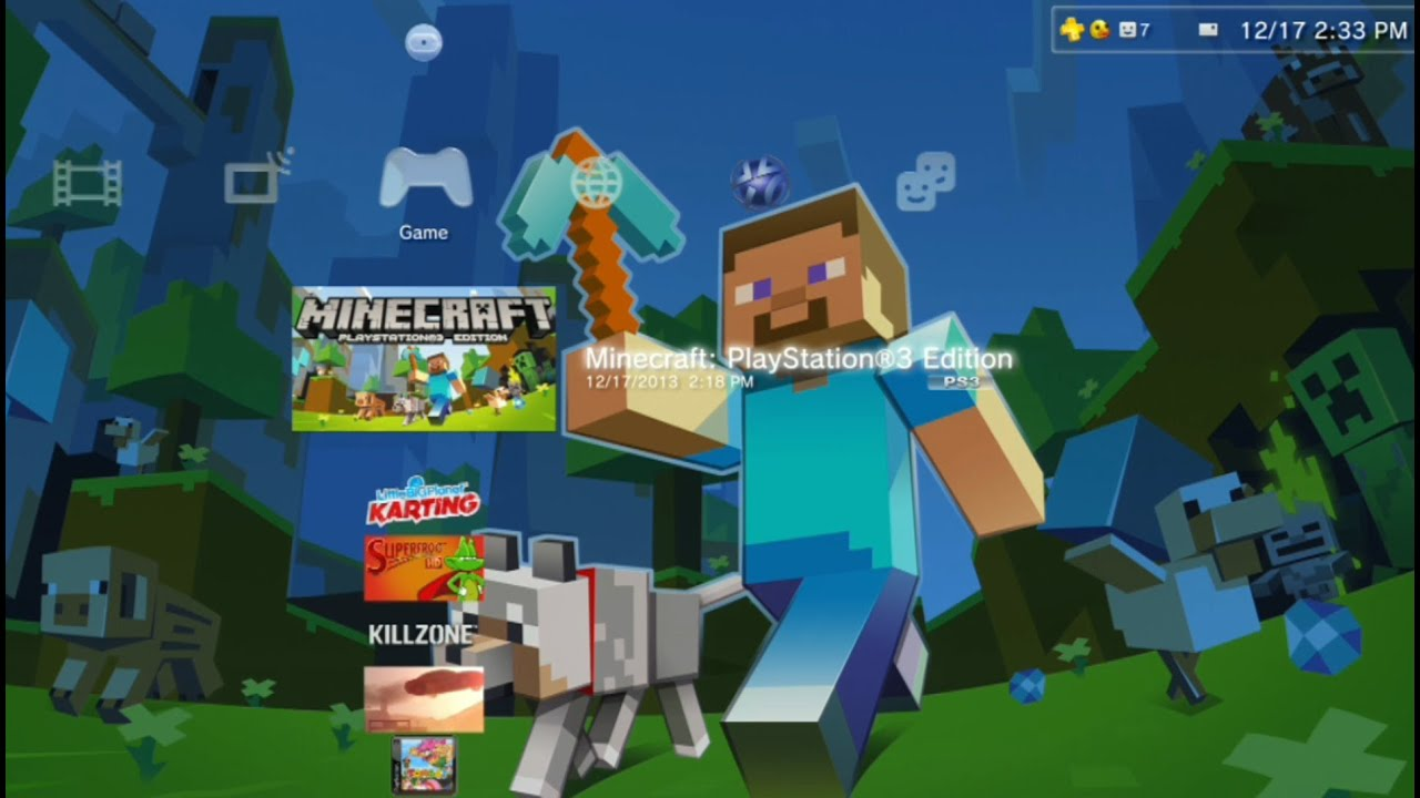 Minecraft PlayStation Gameplay Creative Mode PS Gameplay - Minecraft ps3 spiele