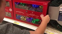 Christmas lights are here! Christmas light review at Target 2017!