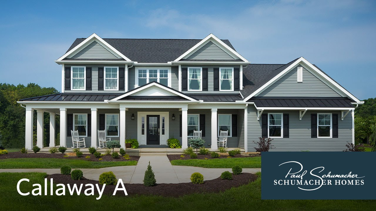 schumacher homes walkthrough callaway a model part 1