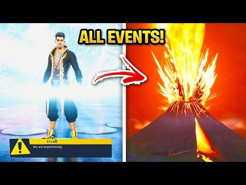 EVERY Fortnite LIVE EVENT Season 1-11! (Chapter 2 Leaked Skins & Battlepass)