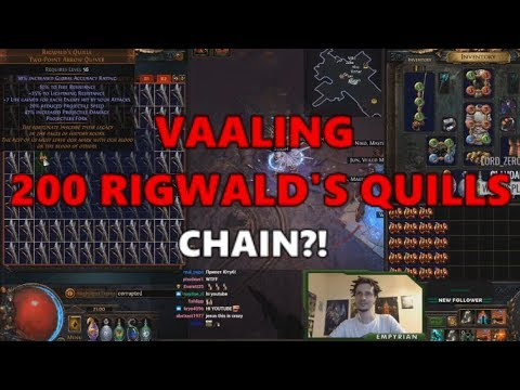 [PoE] Stream Highlights #304 - Vaaling 200 Rigwald's Quills