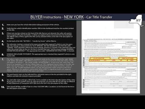 New York Title Transfer BUYER Instructions – Family Car Buyers