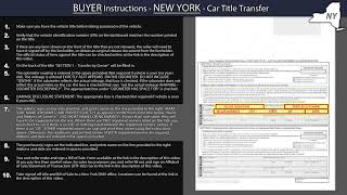 New York Title Transfer BUYER Instructions