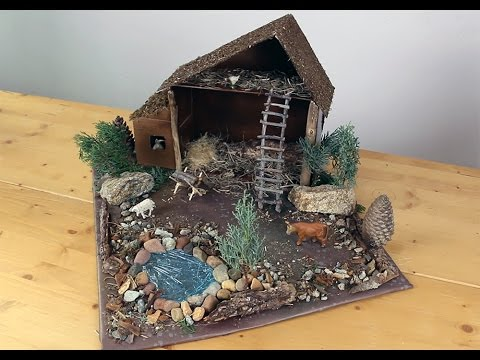 Faire une cr che de no l youtube - Fabrication de maison pour creche de noel ...