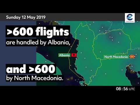 Air traffic situation over Albania and North Macedonia - 10 May 2020 vs 12 May 2019