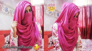 Eid Speacial Gorgeous Layered Hijab Niqab Tutorial Covering Chest And Back Be You And Beauty Youtube