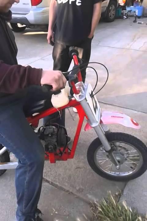 Razor Electric Dirt Bike 2 Stroke Conversion Youtube