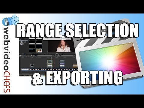 How to export part of a timeline: Final Cut Pro X