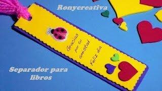COMO HACER UN UTIL SEPARADOR DE LIBROS/ BOOK  GIFT DIY