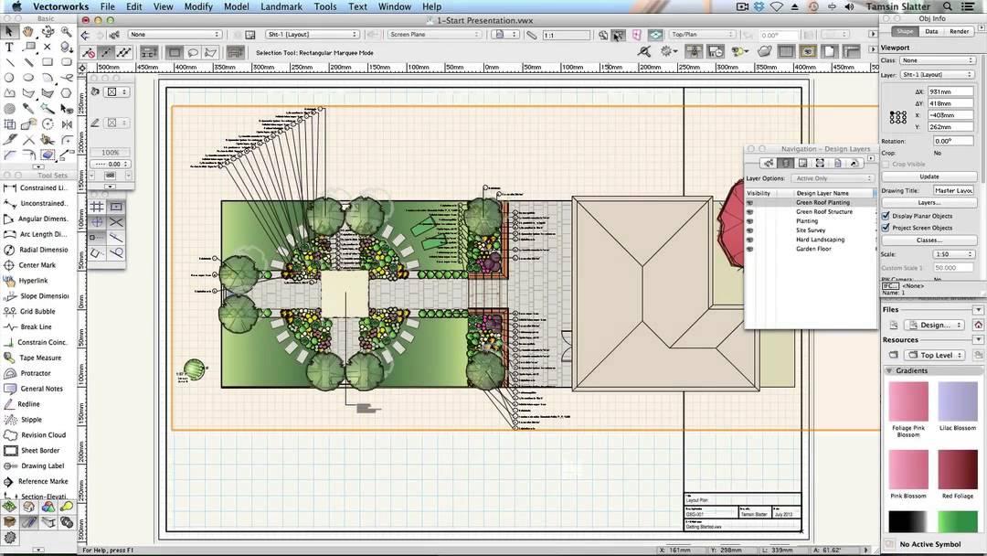 Vectorworks Landmark 2014: Create a Plan Viewport - 24 ...