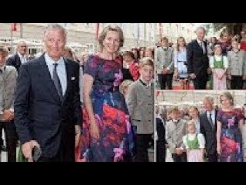 Queen Mathilde and King Philippe Take Their Children to he Salzburg Opera Festival 2017