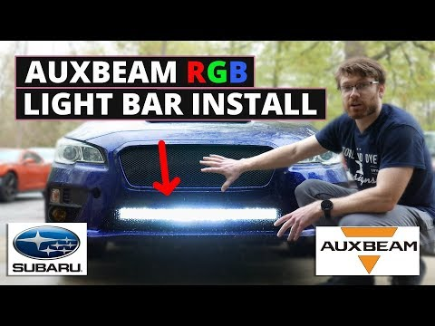 "How To Install 32"" Auxbeam RGB LED Light Bar Subaru WRX STI 2015 2016 2017"