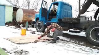 гАЗ 53 Заливка масла