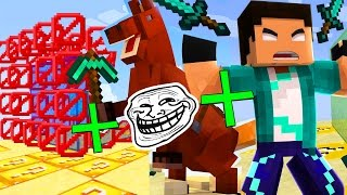 CUBÃO LUCKY BLOCK: TODAS AS TROLLS JUNTAS !! (MINECRAFT TROLL)