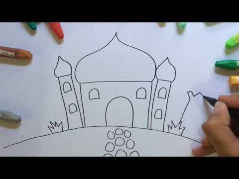 Menggambar Mewarnai Anak Tk Masjid Youtube