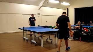 Wandsworth Table Tennis John Llewellyn vs Erik Jeanpierre