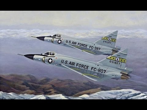 Air Force  F-102 Delta Dagger first Jet Fighter Interceptor 1957 Cold War Era
