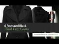 6 Featured Black Wool Pea Coats Amazon Fashion, Winter 2017