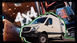 must see SPRINTER Vanlife TOUR! 4X4 conversion build