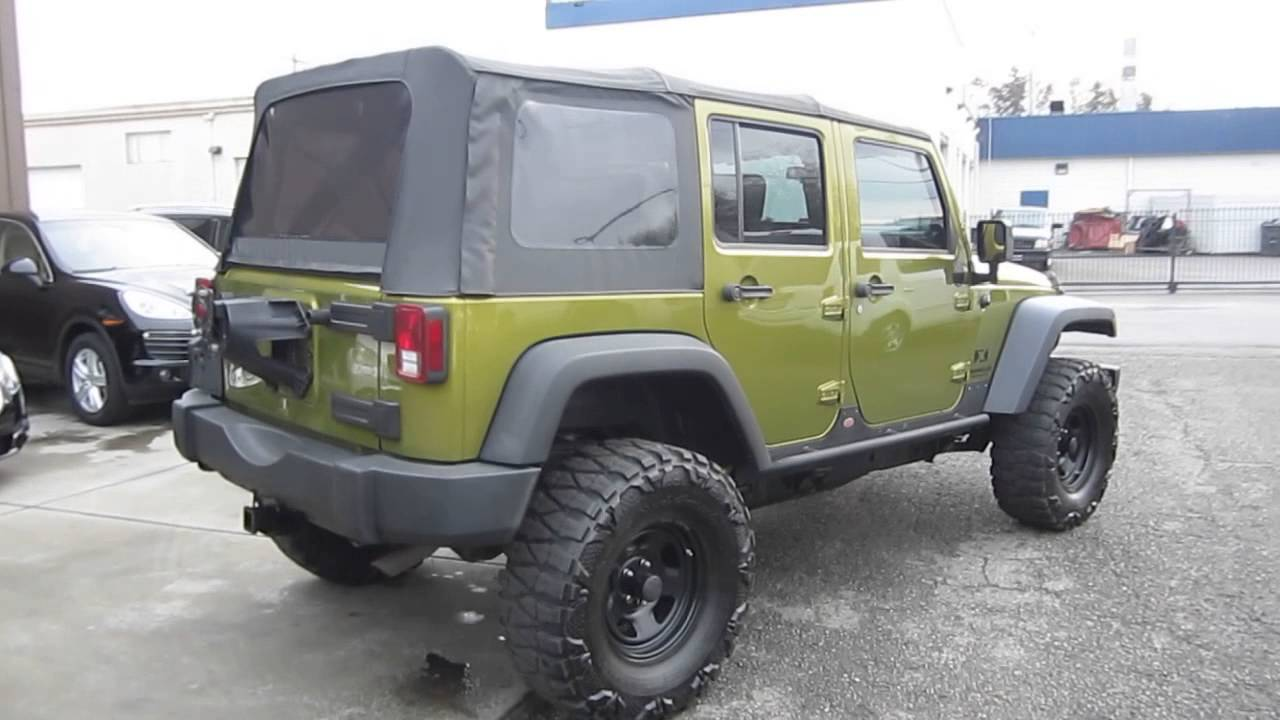 2008 Jeep Wrangler Rescue Green Metallic Stock 548614 Walk