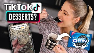 Testing Viral TIK TOK DESSERTS.. What's ACTUALLY Worth Making??