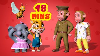 Bandar Mama and the Prankster | Hindi Rhymes for Children Collection | Infobells