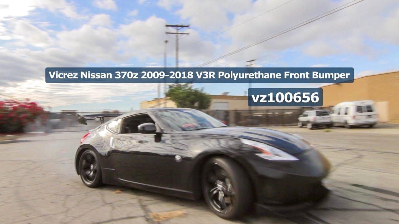 Teaser Vicrez Nissan 370z 2009 2018 V3r Polyurethane Front Bumper