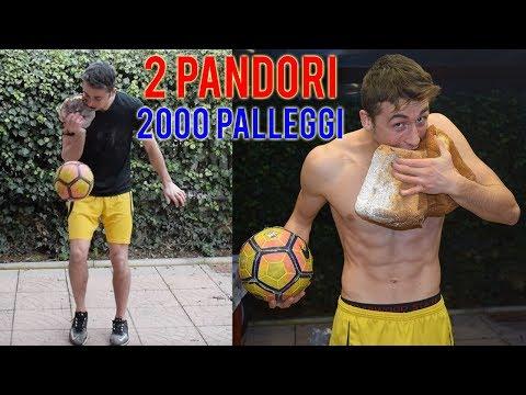 MANGIO 2 PANDORI INTERI Palleggiando Un Pallone - PIERINO vs FOOD