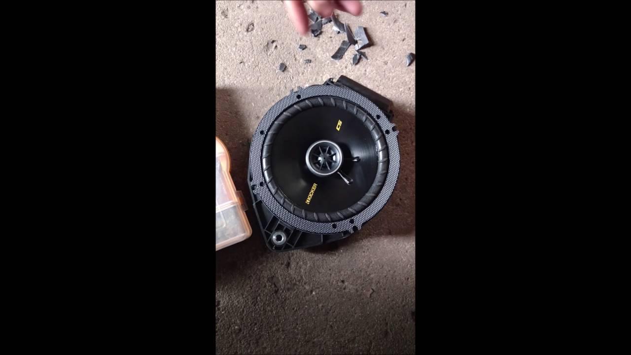 2014-16 silverado 1500 rear speakers install!! - YouTube