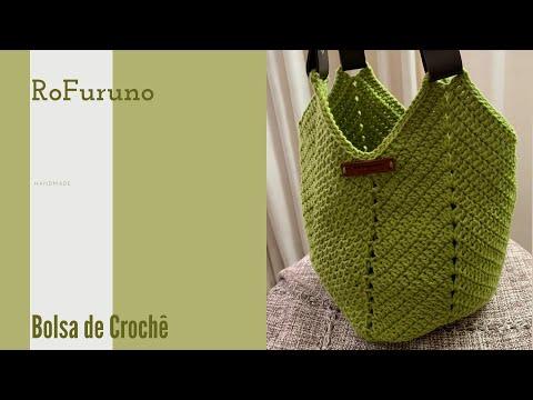 Bolsa de Crochê | somente em ponto alto | Muito Fácil