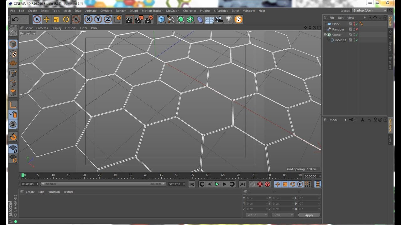 The best way to create a hexagon grid in Cinema 4D