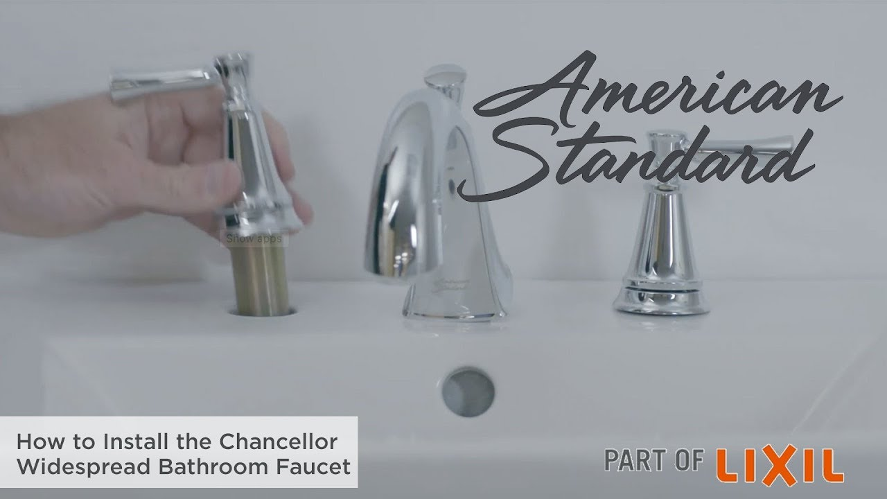 How To Install The Chancellor Widespread Bathroom Faucet Youtube