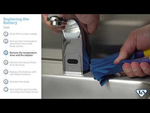 How To: Replacing The Battery And Adjusting Settings In Above-Deck Faucets