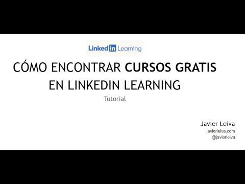 Como Encontrar Cursos Gratis En Linkedin Learning Youtube