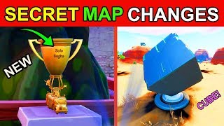 *SECRET MAP CHANGES* NEW FORTNITE UPDATE! BUGHA TROPHY & CUBE MEMORIAL STATUE (v10.10) SEASON 10