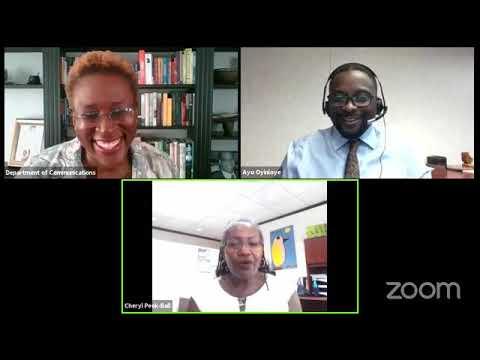 Govt Media: Q&A With Dr. Cheryl Peek Ball & Dr. Ayoola Oyinloye, Aug 31 2020