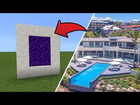 How To Make A Portal To The $24M Hillside Mansion Dimension In MCPE (Minecraft PE)