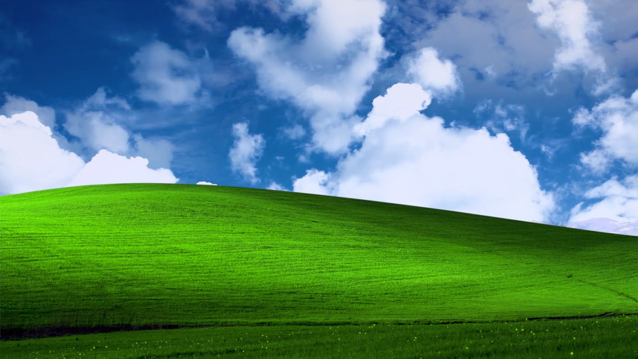 Microsoft Windows XP Bliss Wallpaper Animated
