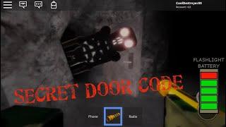 Secret Door Code The Maze Roblox Horror Jeu