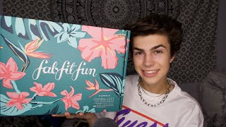 ASMR- Summer Fab Fit Fun Unboxing! 🌸 (Tapping, Scratching, Tingles!)