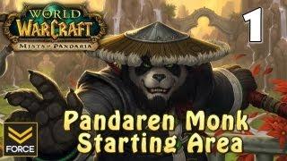 Mists of Pandaria: Pandaren Monk Starting Area Gameplay #1 (World of Warcraft)
