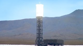 Mojave Death Ray - Stateline Solar Farm in California Nevada Desert - Raw Footage