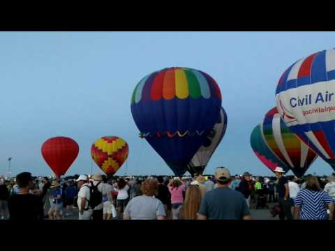 Hot Air Balloon Glow EAA Oshkosh, WI 7/24/17