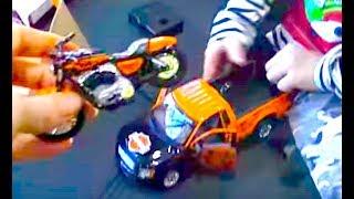 Машинка с Мотоциклом - подарок от Дяди Тигра!