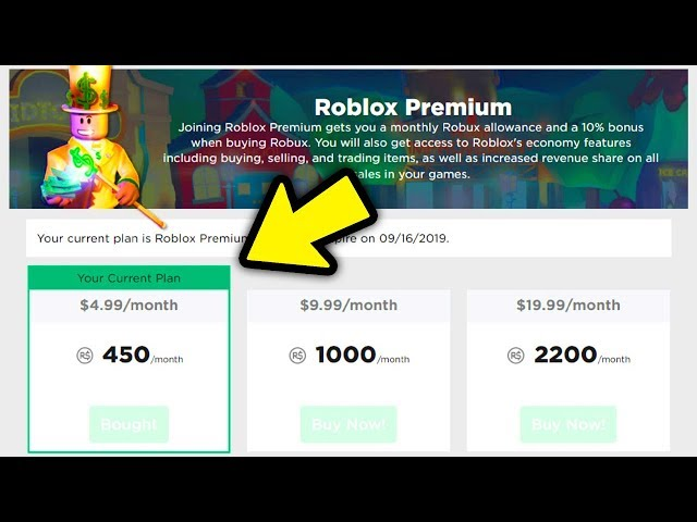 how much will roblox premium cost